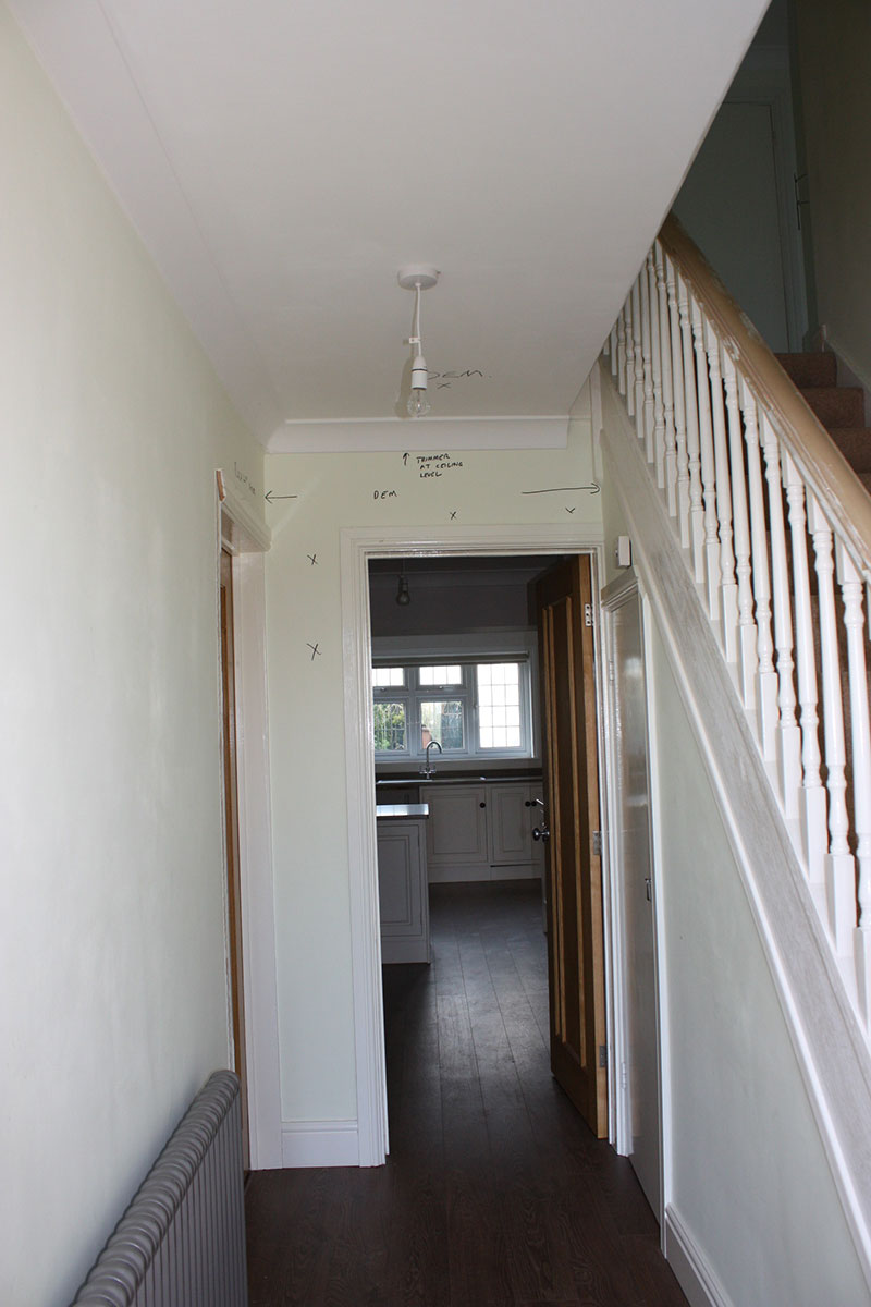 The Hallway Before Work Started 21 Friars Road
