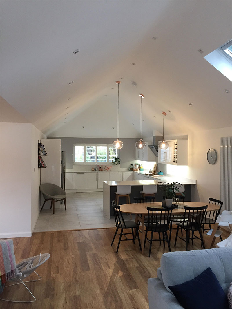 Kitchen Living Area, Vaulted Ceiling. Shooters Drive, Waltham Abbey