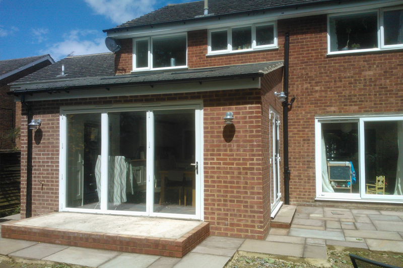 Completed Rear Extension Fontmell Close, St Albans